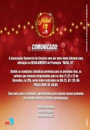 Comunicado - Sorteio Natal 10